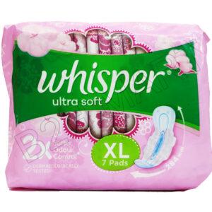 Whisper Ultrasoft XL Sanitary pad -7pc